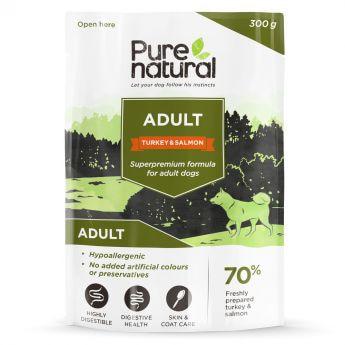 Purenatural Adult Kalkun & Laks våtfôr til hunder (300 gram)