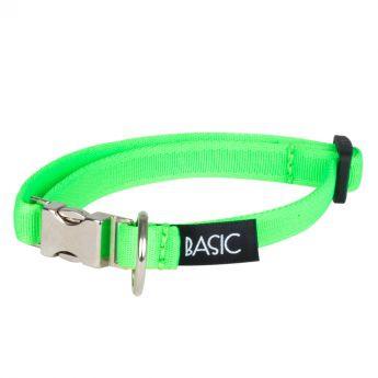 Basic Sweet Halsbånd Neongrønn med metallås