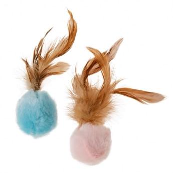 Little&Bigger Shimmering Sensation Myke lekeballer med fjærhale 2-pack