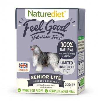 Naturediet Feel Good Senior Lite kalkun & kylling (200 g)