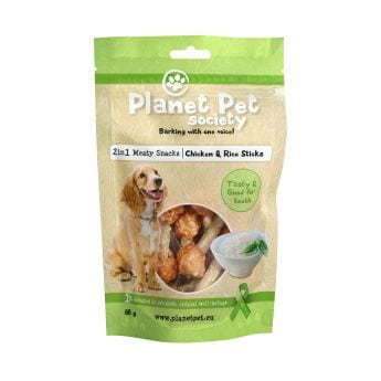 Planet Pet Society 2in1 kylling-rispinner (80 gram)