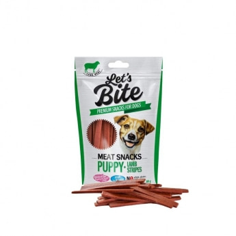 Brit Care Let'sBite Puppy lamb stripes 80 g