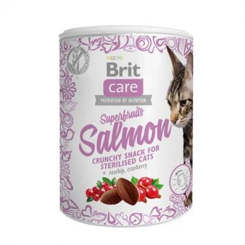 Brit Care Cat Snack Superfruits Laks**