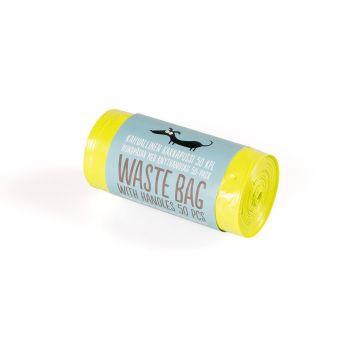 Little & Bigger hundepose tykk med knytehåndtak 50stk lime (S)**