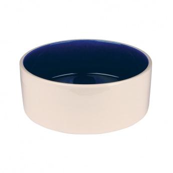 Keramikkskål Hvit/Blå