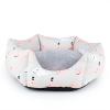 Little&Bigger Whale seng grå/rosa