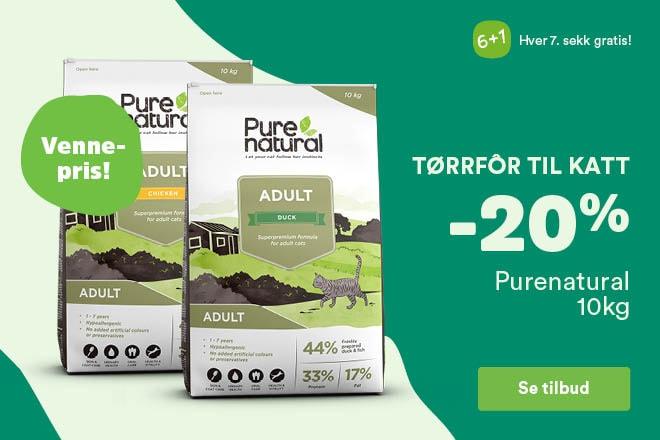 -20% på Purenatural tørrfôr, 10kg