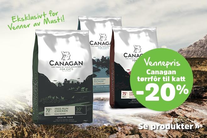 20% på tørrfôr til katt fra Canagan