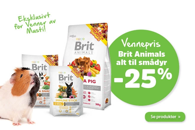 25% på Brit Animals