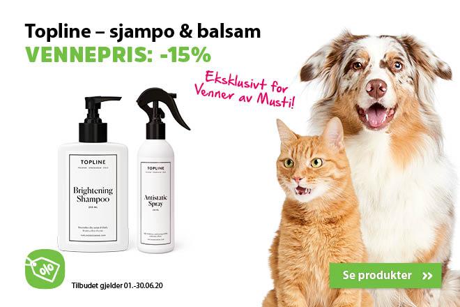 -15% på Topline shampo og balsam