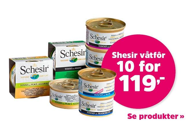 10 for 119,- på våtfôr fra Schesir