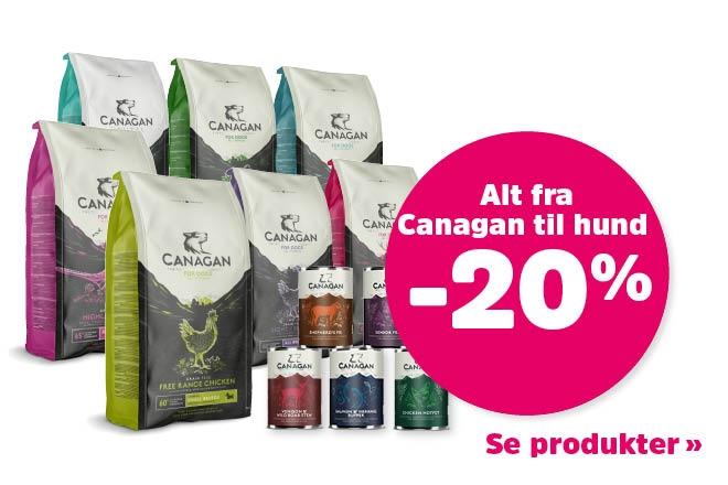 20% på hundefôr fra Canagan