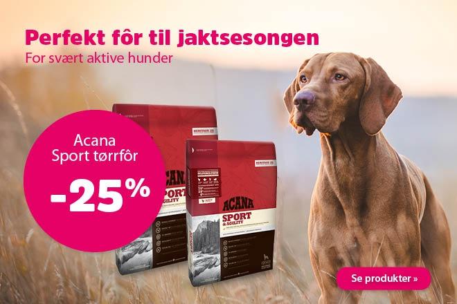 25% på Acana Sport & Agility tørrfôr