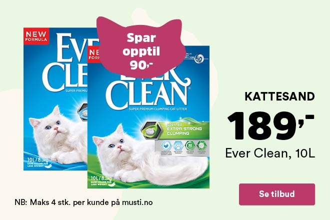 Kun 189,- for Ever Clean kattesand