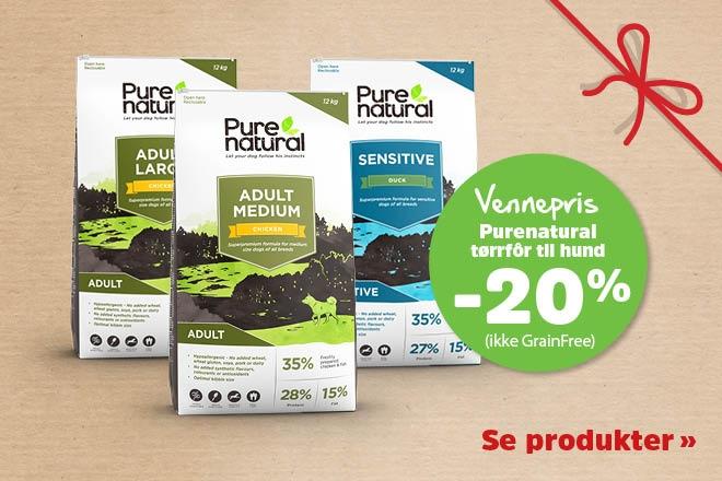 20% på Purenatural tørrfôr 8-12kg