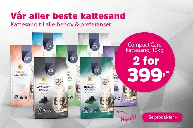 2 for 399,- på kattesand fra Compact Care 10kg