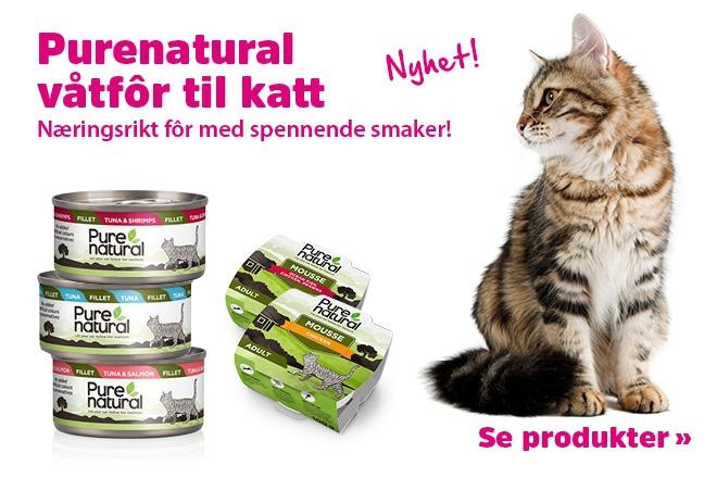 Nyhet - Purenatural våtfôr til katt