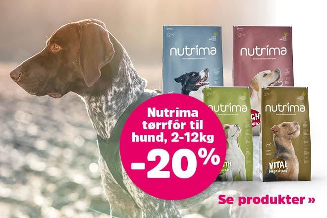20% på tørrfôr fra Nutrima