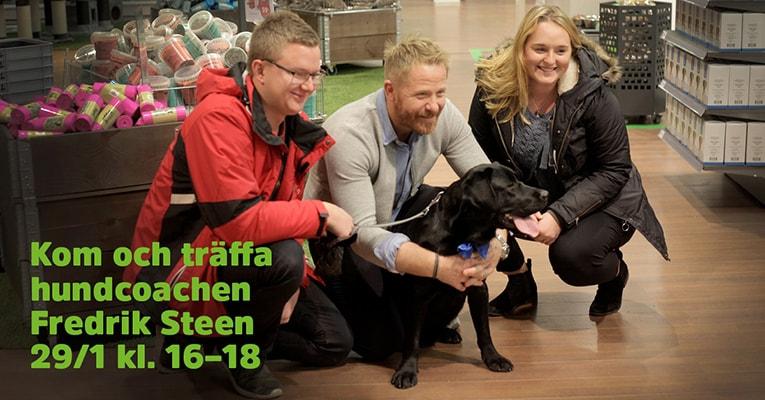 Kom och prata hund med Fredrik Steen i vår butik