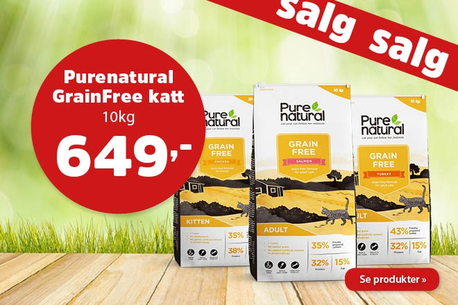 Kun 649,- for Purenatural Grain Free 10kg