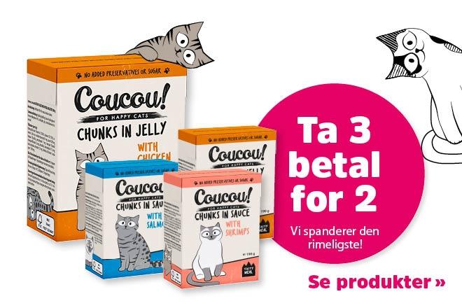 3 for 2 på våtfôr fra Coucou!