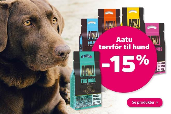 15 på hundefôr fra Aatu