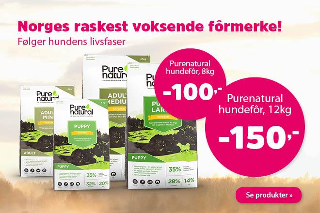 Nedsatt pris på tørrfôr fra Purenatural 12 - 8kg