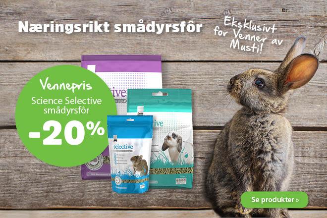 20% på Science Selective smådyrsfôr