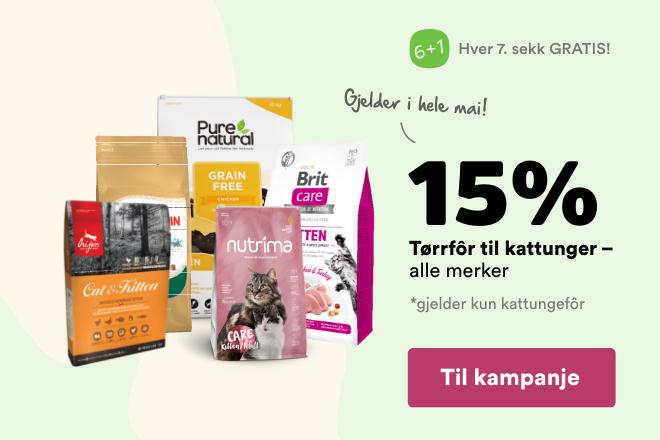 -15% på tørrfôr til kattunge