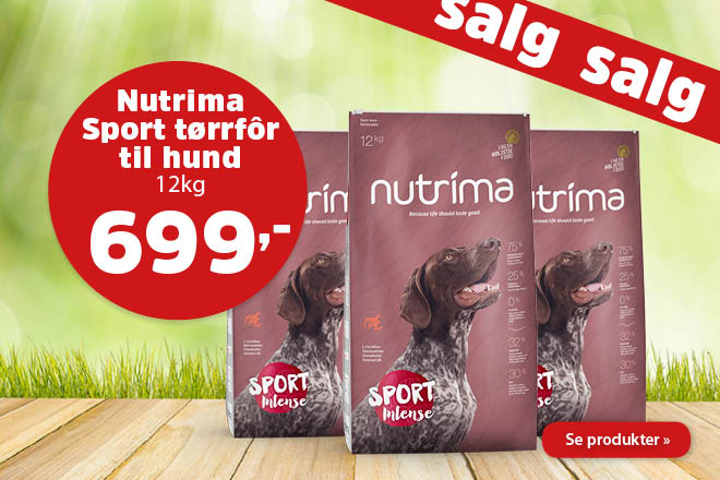 Kun 699,- for Nutrima Sport Intense 12kg