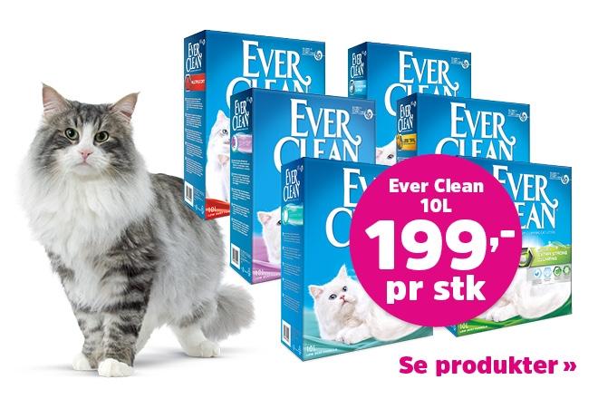 Nedsatt pris på kattesand fra Ever Clean