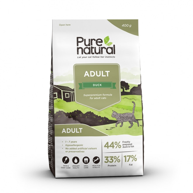 Purenatural Cat Adult Duck (400 g)