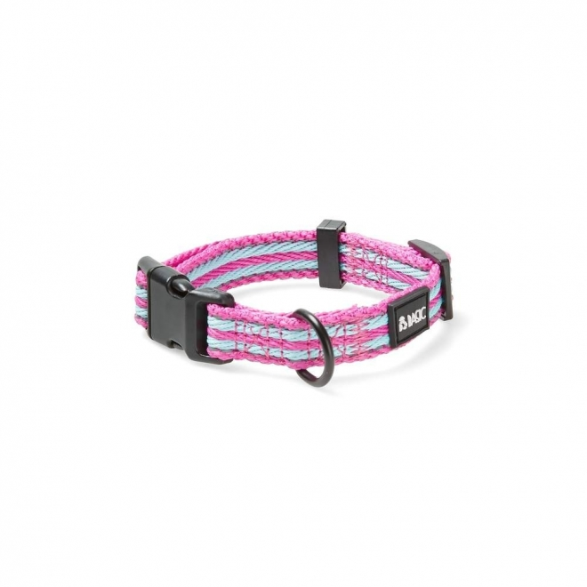 Basic Cosy Justerbart Halsbånd Turkis/Rosa