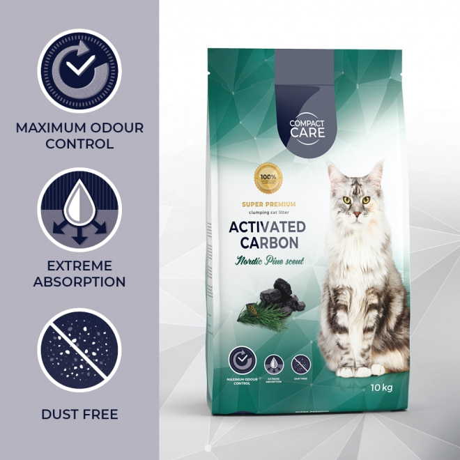 Compact Care Activated Carbon Nordic Pine 10 kg