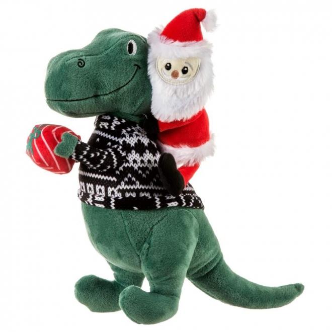 Little&Bigger Holiday Parade T-rex med Julenissen