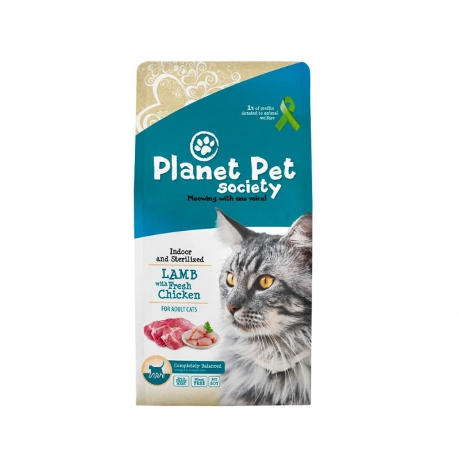 Planet Pet Society Indoor/sterilized Lamb & Fresh Chicken (7 kg)