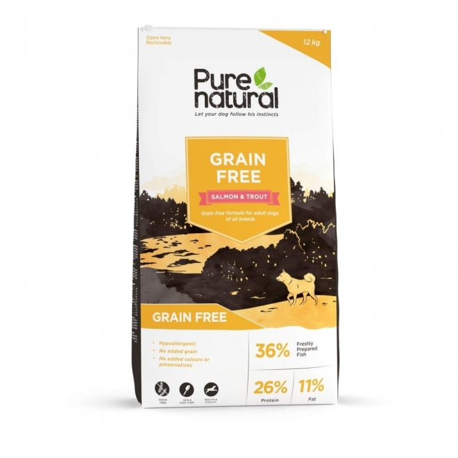 Purenatural Dog Adult Grain Free Salmon & Trout (12 kg)
