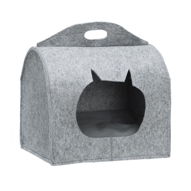 Little&Bigger CatCave Box Grå