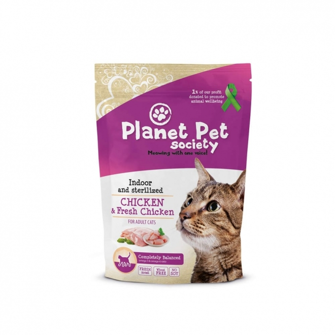 Planet Pet Society Indoor/sterilized Chicken & Fresh Chicken (1,5 kg)