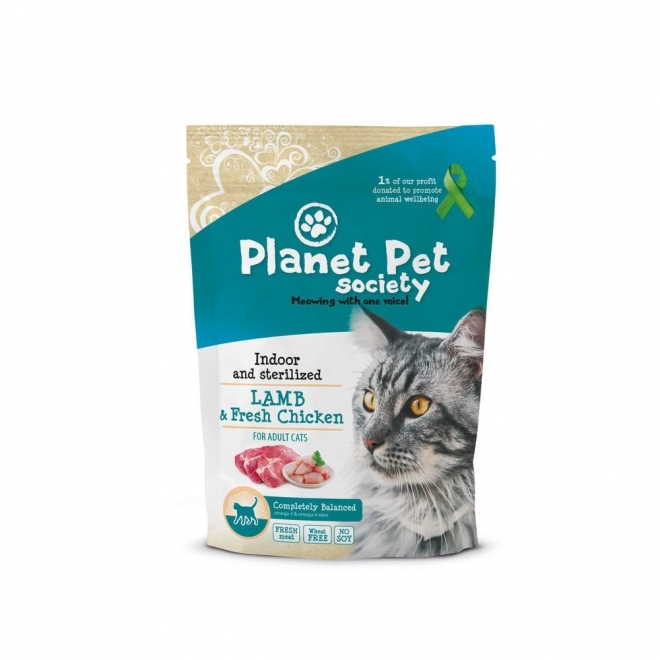 Planet Pet Society Indoor/sterilized Lamb & Fresh Chicken (1,5 kg)