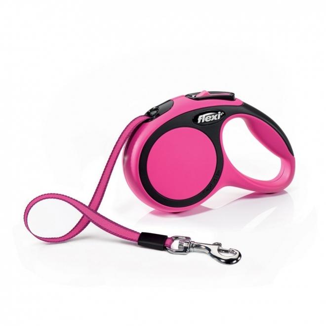 Flexi New Comfort M Tape 5m/25kg (Rosa)