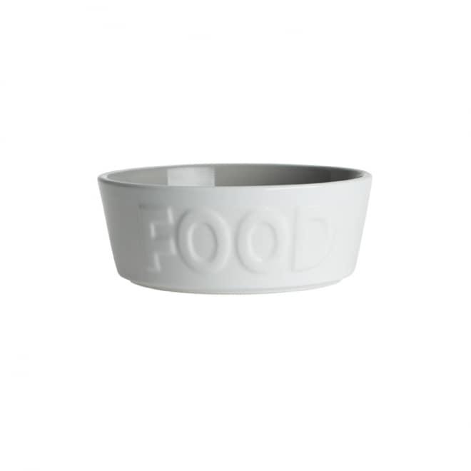 PetRageous Designs FOOD Keramikkskål Hvit/Grå