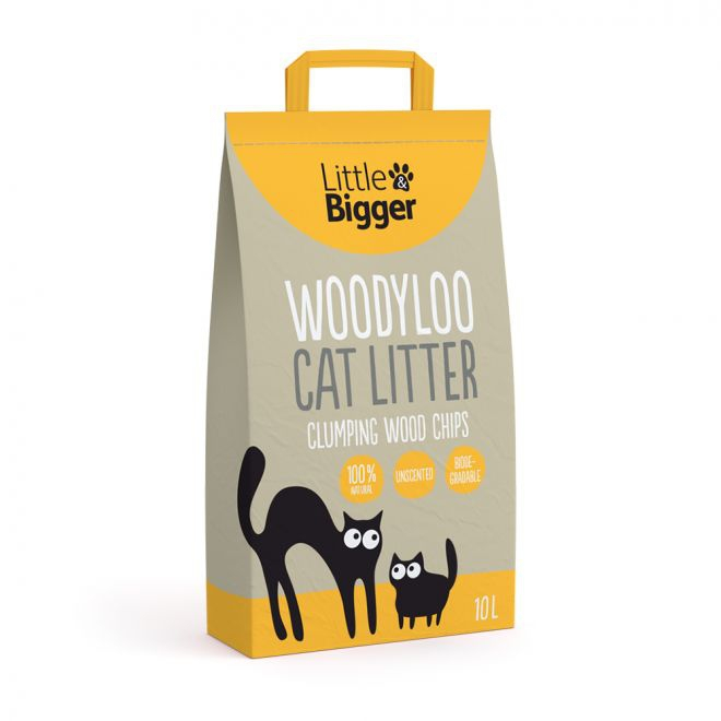 Little & Bigger Kattesand Woodyloo 10 liter