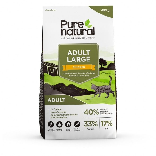 Purenatural Cat Adult Large Chicken (400 g)