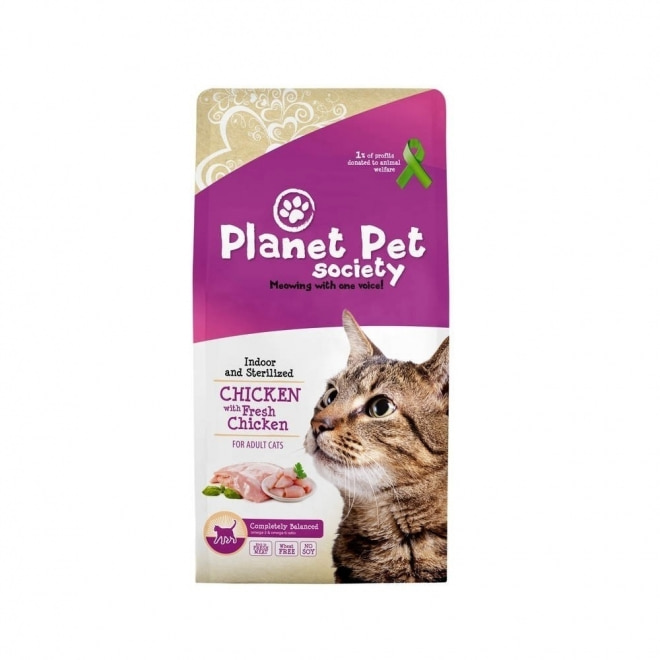 Planet Pet Society Indoor/sterilized Chicken & Fresh Chicken (7 kg)