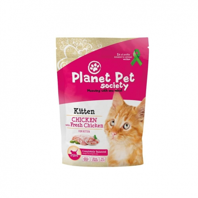 Planet Pet Society Kitten Chicken & Fresh Chicken (1,5 kg)