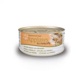 Applaws Cat Kyckling & Makrill i Gelé (70 gram)**