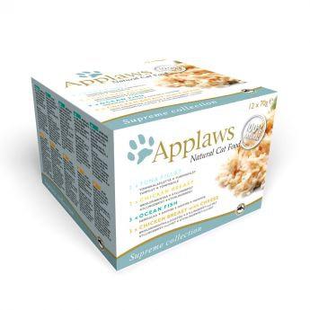 Applaws Cat Kyckling & Fisk (12 x 70 g)**