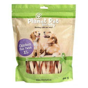 Planet Pet Dog Kyckling & Fisk Twist XL (400 gram)**