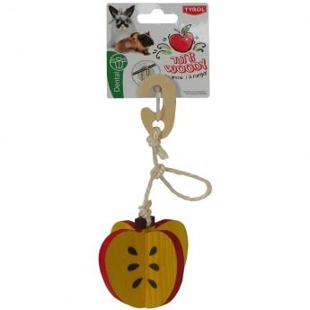 Tyrol Tutti Woody Hängande Leksak med Äpple 7cm
